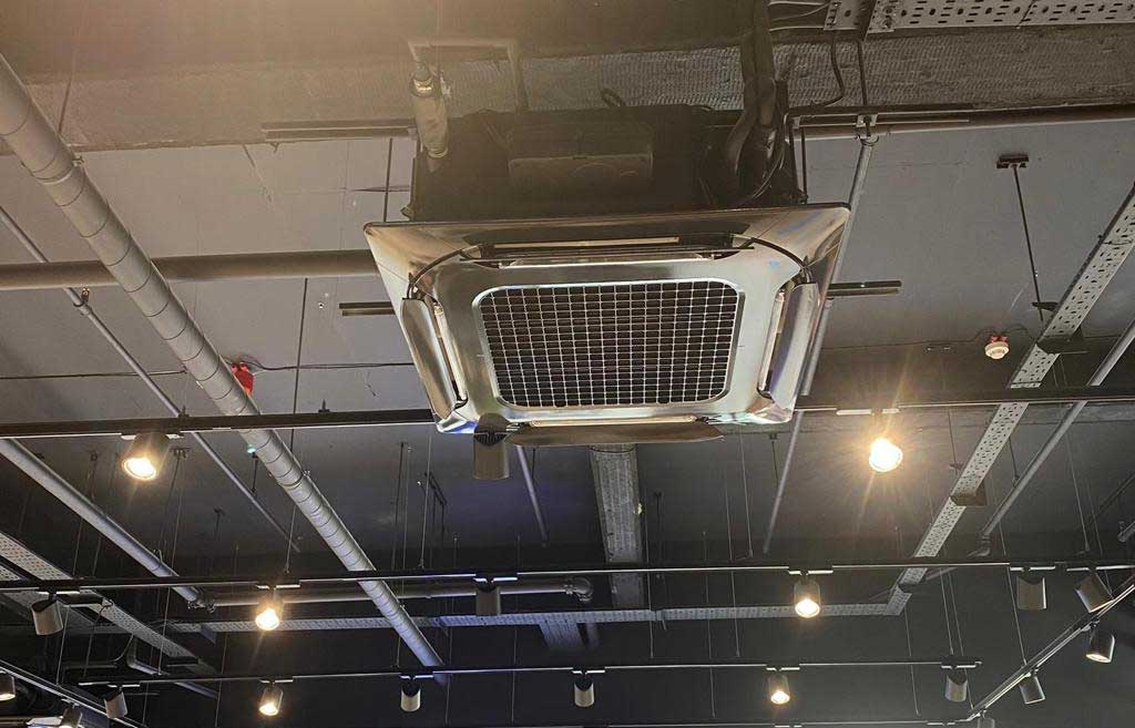 Cassette ceiling air conditioning fitted by Sparta Mech